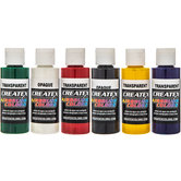 Primary Airbrush Colors - 6 Piece Set