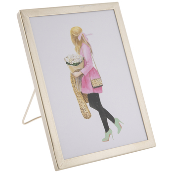 Girl With Flowers Wood Decor