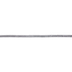 Silver Metallic Braided Cord - 1/4