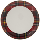 Red & White Plaid Plate