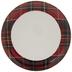 Red & White Plaid Plate