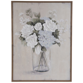 Blue & White Floral Vase Wood Wall Decor