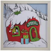 Dr. Seuss Grinch's Gift Wrapping Framed Wall Decor