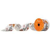"Thankful Wired Edge Ribbon - 2 1/2"""