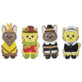 Fall Cat & Dog Dress Up Foam Craft Kit