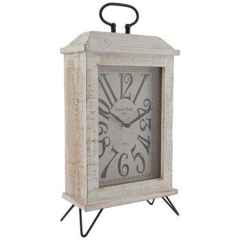 Distressed White Wood Clock