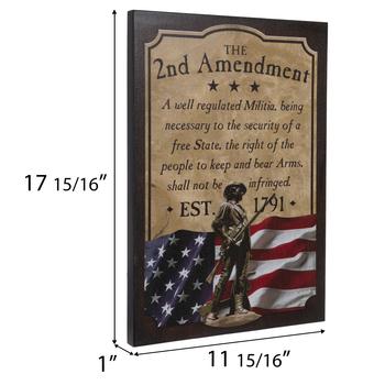 2nd Amendment Wood Wall Decor