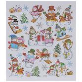Snowmen Foil Stickers