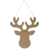 Reindeer Face Wood Ornament