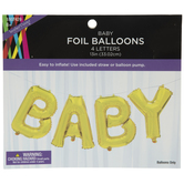 Gold Baby Foil Balloons