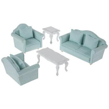 Miniature Mint Living Room Furniture