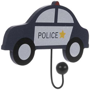 Police Car Wood Wall Hook