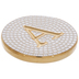 Metallic Gold Letter Coaster - A