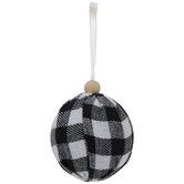 Black & White Buffalo Check Ball Ornaments - Small