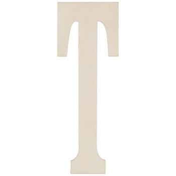 "Vintage Sign Wood Letters T - 4"""