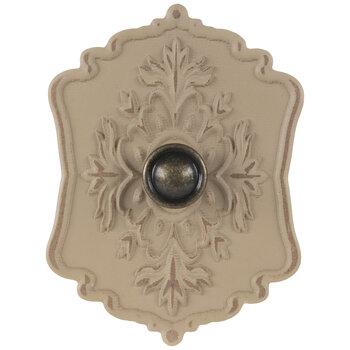 Beige Ornate Wood Wall Knob