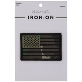 Camouflage American Flag Iron-On Applique