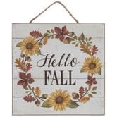 Hello Fall Wood Wall Decor