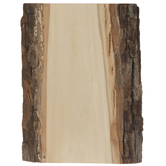 Basswood Bark Trimmed Wood Plaque