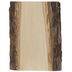 Basswood Bark Trimmed Wood Plaque