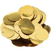 Gold Round Flat Sequins - 20mm