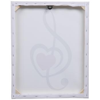 Treble Clef Heart Canvas Wall Decor