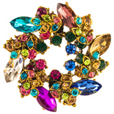 Wreath Rhinestone Brooch