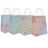 Watercolor Patterned Craft Gift Bags