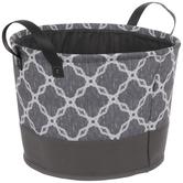 Gray & White Diamond Container