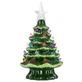 Green Light-Up Christmas Tree