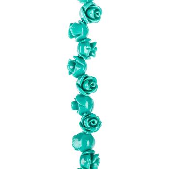 Turquoise Rose Bead Strand