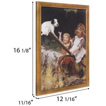 Vintage Seesaw Framed Wall Decor
