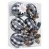 Black Buffalo Check Ball Ornaments