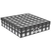 Black & White Buffalo Check Storage Box - Large