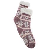 Pink Alpine Slipper Socks