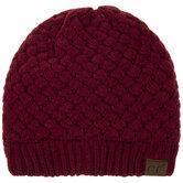 Burgundy C.C Basket Weave Knit Beanie
