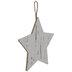 Whitewash Star Wood Ornaments