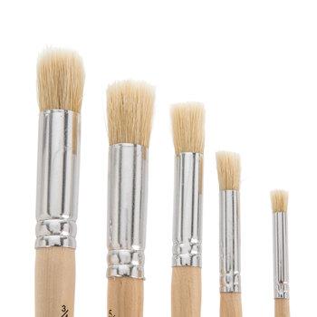 Stencil Paint Brushes - 5 Piece Set