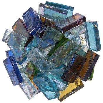 Rectangle & Oval Glass Mosaic Gems