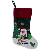 Ho Ho Ho Santa Claus Velvet Stocking