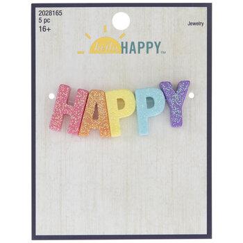 Rainbow Glitter Happy Beads