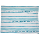Blue & White Striped Embroidered Placemat