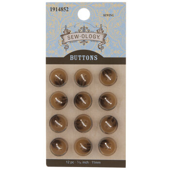 Tortoise Round Buttons
