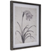 Flower On Linen Framed Wood Wall Decor