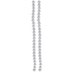 Silver Textured Glass Pearl Bead Strands - 8mm