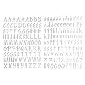 Silver Foil Letter Stickers