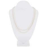 Ecru Glass Pearl Necklace - 6mm