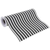 """Black & White Striped Faux Leather Ribbon - 8"""""""