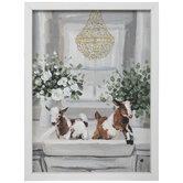 Goats Bathing In Sink Wood Wall Decor