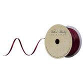 "Burgundy Woven Ribbon - 1/8"""
